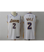 2017 Men's Los Angeles Lakers #2 Lonzo Ball basketball jersey white.jpg - $26.66