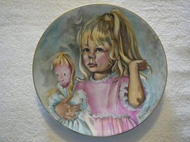 PINKY & BABY MARIAN CARLSEN COLLECTOR PLATE CH FIELD HAVILAND LIMOGES FR... - $6.25