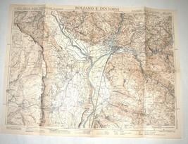 Antique 1930s North Italy South Tirol Map TCI Carta Bolzano E Dintorni image 2