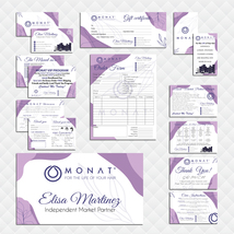 Purple Color  Monat Marketing Kit, Monat Marketing Bundle, Monat Hair Ca... - $45.00