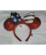 Disney Parks Americana Minnie Ears Headband Red Blue July 4 holiday summ... - $24.75