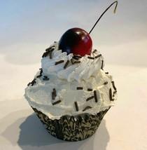 Vanilla w/ Chocolate Sprinkles Cupcake Faux Cupcake- fake home decoration prop - $8.41