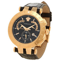 Versace 23C80D008S497 V race Black Gold Dial Men's Watch - $2,578.91