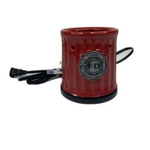 Scentsy Warmer Full Size Fire Fighter/ Dept Retired and Rare No Top tested - $41.71