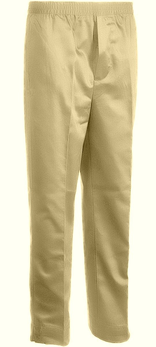 Primary image for Benefit Wear Mens Full Elastic Waist 5-Pocket Pants with Mock Fly (2X, Khaki)