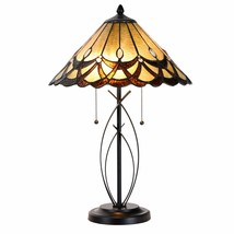 Tiffany Style Table Desk Lamp Victorian Modern Base Stained Glass Home D... - $99.99