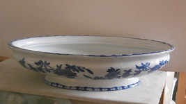 Adderley Brugge Blue & White Oval Vegetable Bowl NO LID - $23.38