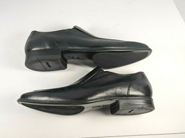 COLE HAAN Mens Dress Shoes Black Leather Split Toe Loafers Slip On Sz 11.5 - $41.73