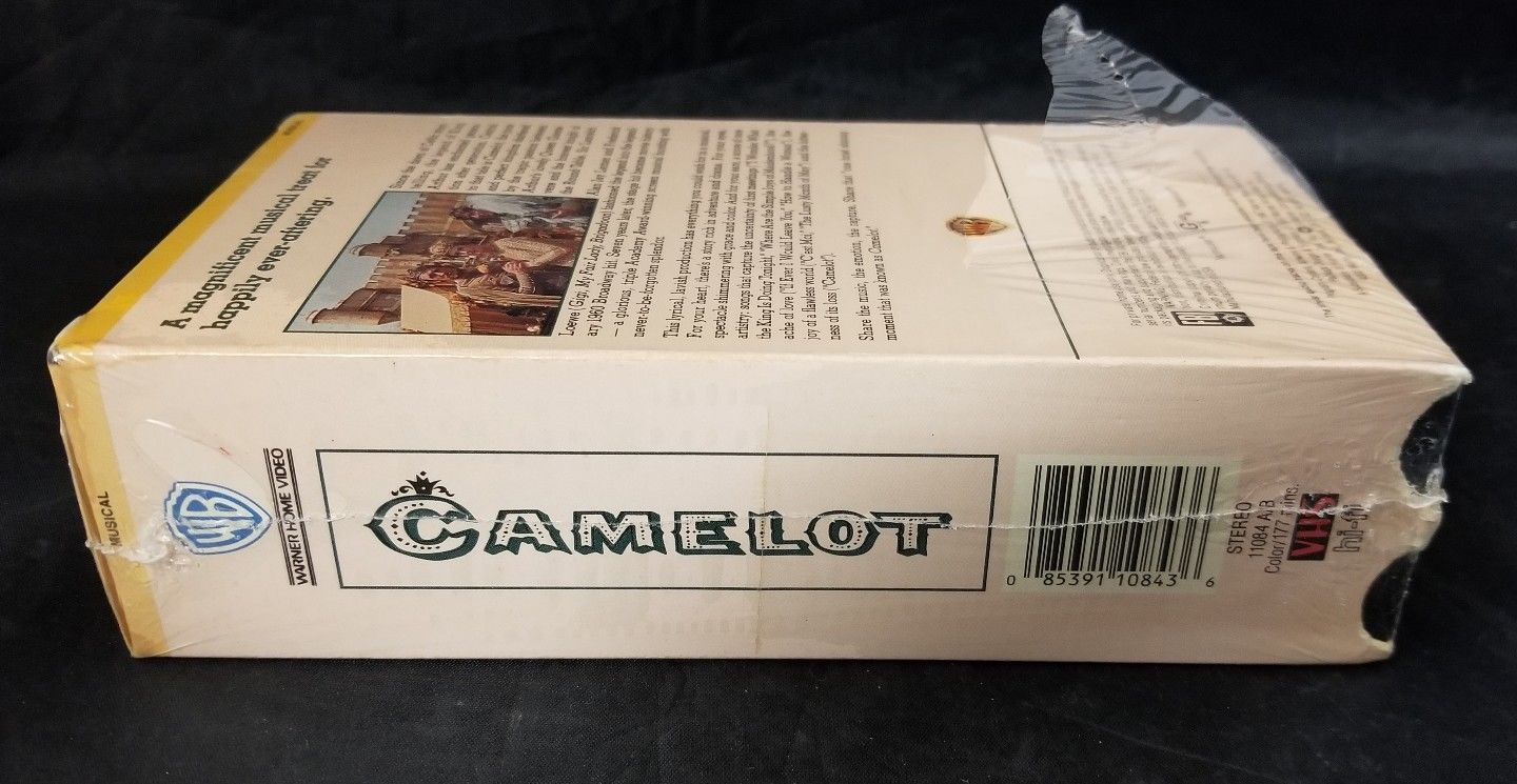 Camelot VHS Tape Video 2 Tapes Set Richard Harris Vanessa Redgrave F. Nero NEW