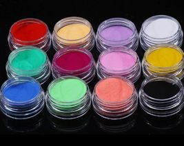 12 Colors/Set Acrylic Powder Dust UV Gel Design - $9.99