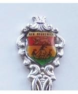Collector Souvenir Spoon Canada New Brunswick Fredericton Coat of Arms Flag - $4.99