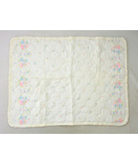 Vtg White Quilt Dutch Holland Windmill Kids Floral Print Blanket Throw 4... - $9.89