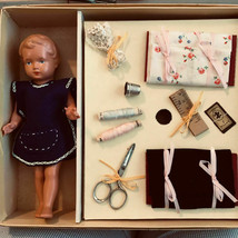 VINTAGE A/O BOXED CELL.TURTLE MARK 8.5'' DOLL AND PATTERNS PLUS ACCESSOR... - $108.90