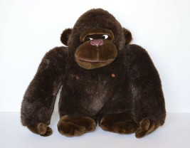 Large Brown Gorilla Plush Stuffed Animal Toy Vintage 1988 Tsuruya Doll C... - $54.95
