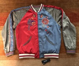 Diesel Bomber Varsity jacket Multicolor Reversible Jacket Sz XXL - $399.99