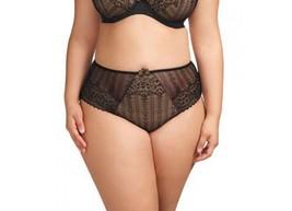Elomi Bijou Soiree Brief Panty ~ 8786 Black ~ Large to 4XL Plus Size - $16.95