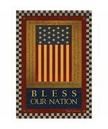 """Bless Our Nation Patriotic House Flag -2 Sided Message, 28"""" x 40"""" - $24.70"""