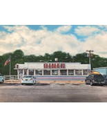 DINER-  an original acrylic painting of a vintage diner --The Golden Eagle  - $4,100.00