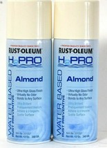 2 Rust-Oleum H2Pro Water Based 331557 Almond High Gloss Rust Preventive Spray - $16.99
