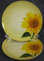 Noritake Colorwave Mustard 8065Y Accent Salad Plates Lot of 2 Round Sunflower - $27.00