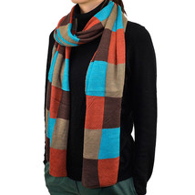 "74"" Long Unisex Scarf Multi Color Plaids & Checks Doulbe Layer Soft Warm... - $9.95"