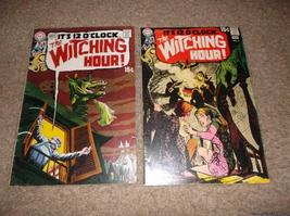 The WItChINg HouR Issues 5 & 6 * Classic 1970 DC Horror Lot!! - $75.00