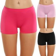 Ekouaer 3 Pack Beyond Soft Boyshort Panty Womens Nylon Underwear,Black/P... - $26.24