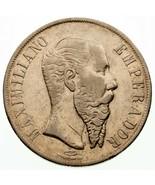 1866 Mexico Maximilian ein Peso XF Zustand km #388.1 - $258.75 CAD