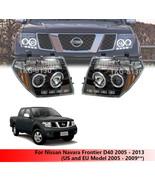L.E.D Projector Headlight Lamp For Nissan Navara D40 05 - 13 (US EU 2005... - $467.50