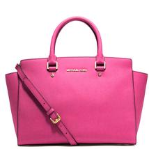 Michael Kors Women's Selma Large Top Zip Satchel Satchel Handbag Hot Pink - $230.00