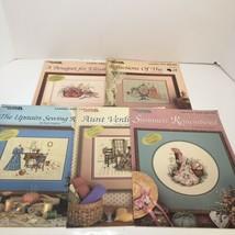 5 Paula Vaughan Cross Stitch Pattern Leaflets Book 1 2 4 5 6 Leisure Arts  - $29.02