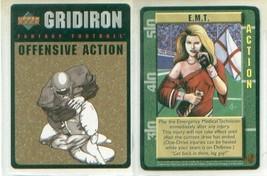 GRIDIRON TRADING CARD GAME Promo card E.M.T. emt - $7.00