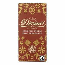 Divine - Bar Milk Chocolate - Case Of 12 - 3 Oz - $52.97
