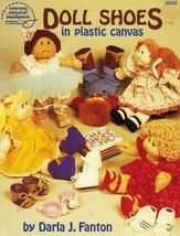 Plastic Canvas Soft Sculpture Doll Shoes Box Boot Slippers Skates Sandal... - $13.99