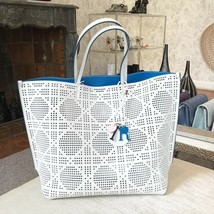 NEW Christian Dior Bag Cannage Perforated White Leather Tote Made in Italy - $1,702.60