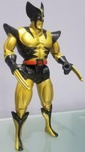 """N) 1993 Marvel Toy Biz X-Men Wolverine 10"""" Gold Action Figure - $9.89"""