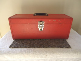 """Vintage Kennedy 18 3/4 """" Red Tool Box With A Insert Tray """" GREAT COLLECT... - $51.41"""