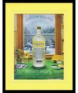 2005 Absolut Citron Winter Vodka 11x14 Framed ORIGINAL Vintage Advertise... - $32.36