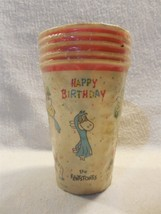 Flintstones 1962 Reed's Rembrandt 7 oz Paper Birthday Party Cups 5 in Pa... - $8.95