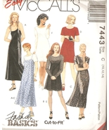 Misses Easy Dress & Slip Dress Sewing Pattern Sizes 10-14 McCall's 7443 ... - $4.99