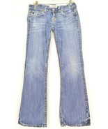 MEK jeans Oaxaca 31 x 32.5 flap back pockets distressed rumpled legs boo... - $29.69