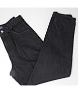 Vintage 90s GAP 13 Made In The USA Black Mom Jeans Tapered Grunge High W... - $29.66