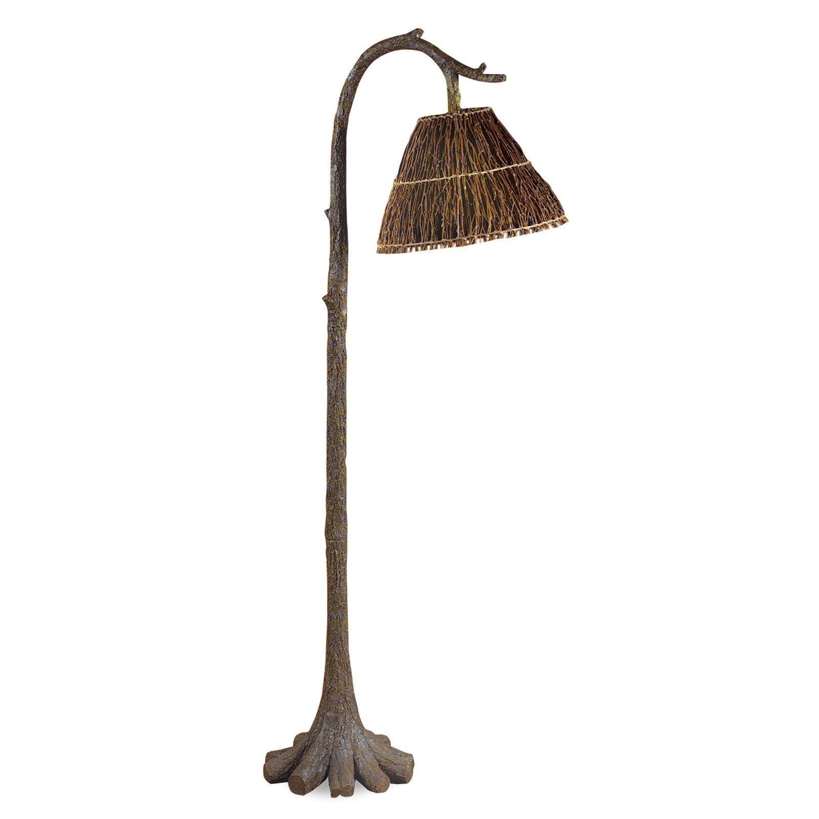 Tree Trunk & Twig Floor Lamp Rustic Cabin Lodge Decor Light