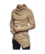 Cowl Neck Asymmetrical Sweater For Men - $22.41