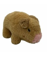 "Vintage KAMAR Hog Pig Piglet Piggy Plush Toy Made In Taiwan Small 6"" - $11.53"