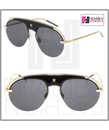 CHRISTIAN DIOR REVOLUTION Black Gold Metal Aviator Sunglasses Evolution ... - $332.64