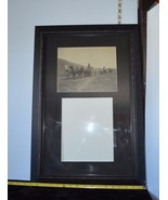 Vintage Old Photograph Of Horses & Wagons Framed w/Space  Second Photo 2... - $28.21