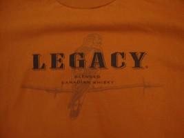 Legacy Blended Canadian Whisky Spirits Drink Fan Burnt Orange T Shirt L - $17.76