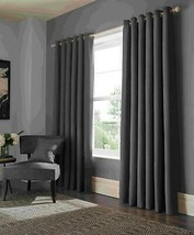 Elba Steel Grey Ring Top Curtains - 9 Sizes - $71.09+