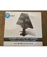 ONN Outdoor Amplified HDTV Antenna 45 Mile Signal Range ONA19CH001 BRAND... - $29.69